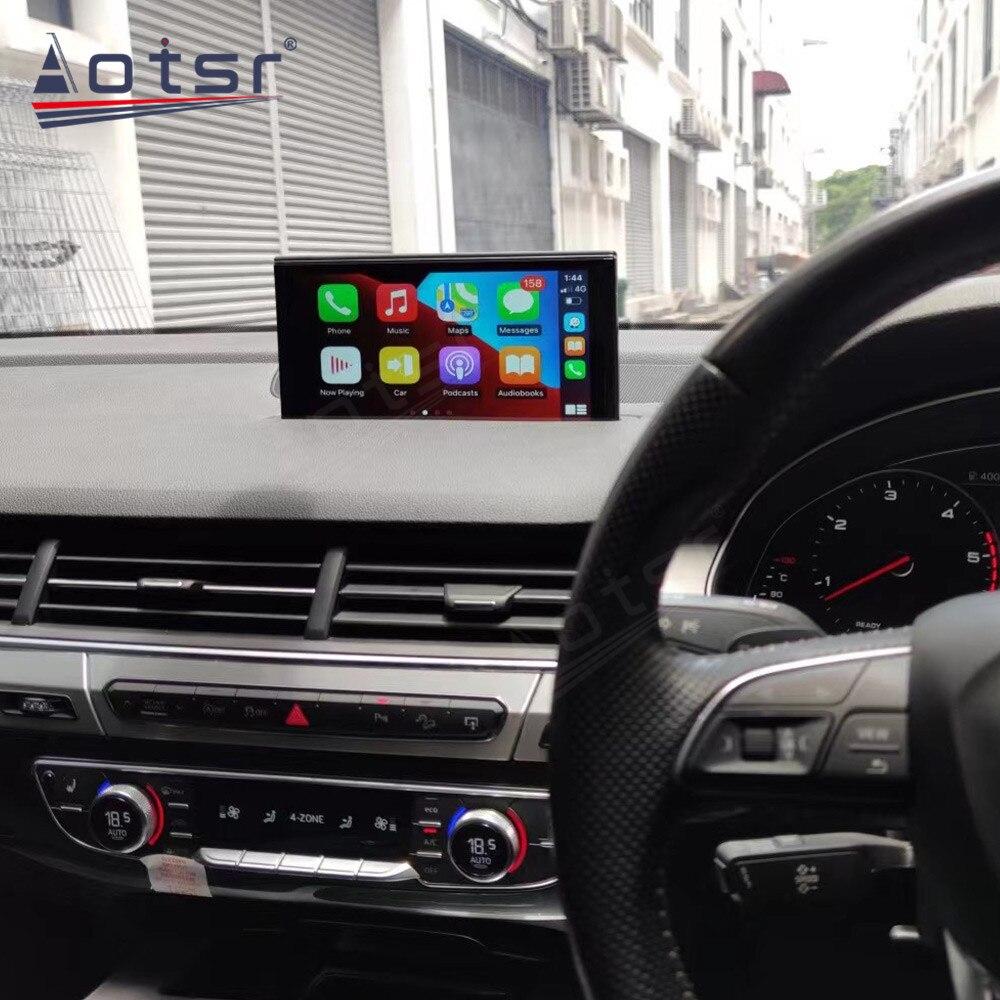 Автомобильный радиоплеер Android для Audi Q7 2015-2020, автомобильный GPS-навигатор, автомобильный стерео Мультимедийный головной убор, видео, Carplay, масштабируемый экран
