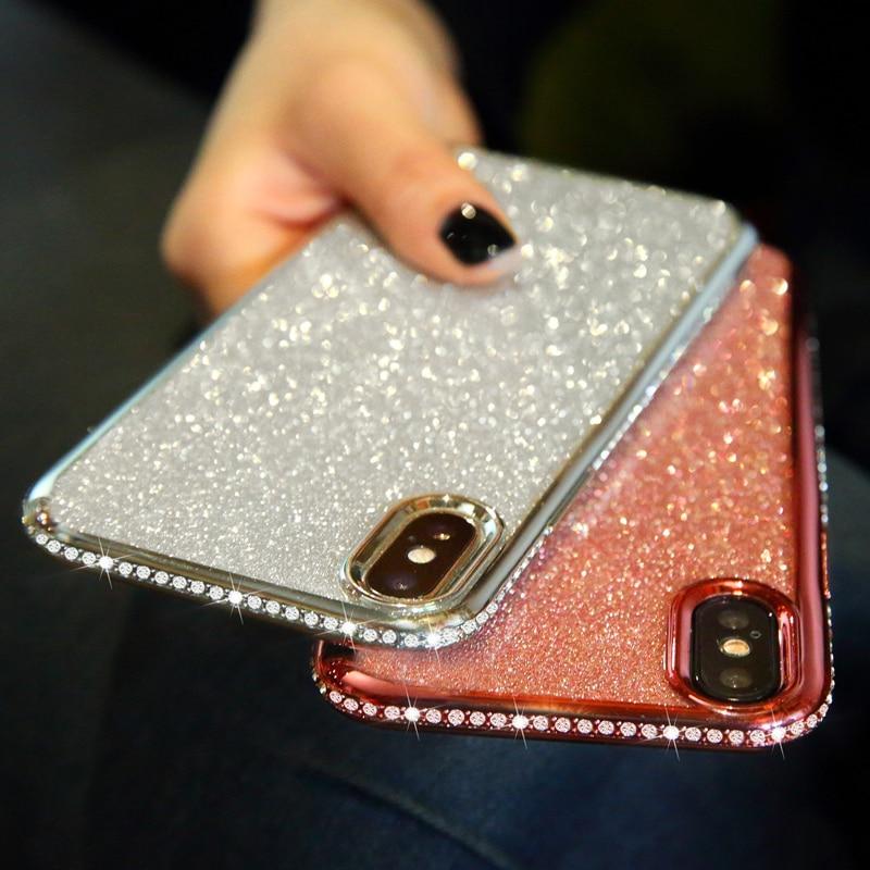 Shiny Bling Diamond Glitter Case for Samsung A10 A20E A30S A40 A50 A50S A70 A51 A71 S8 S9 S10 5G Note 10 S20 Plus Soft TPU Cover