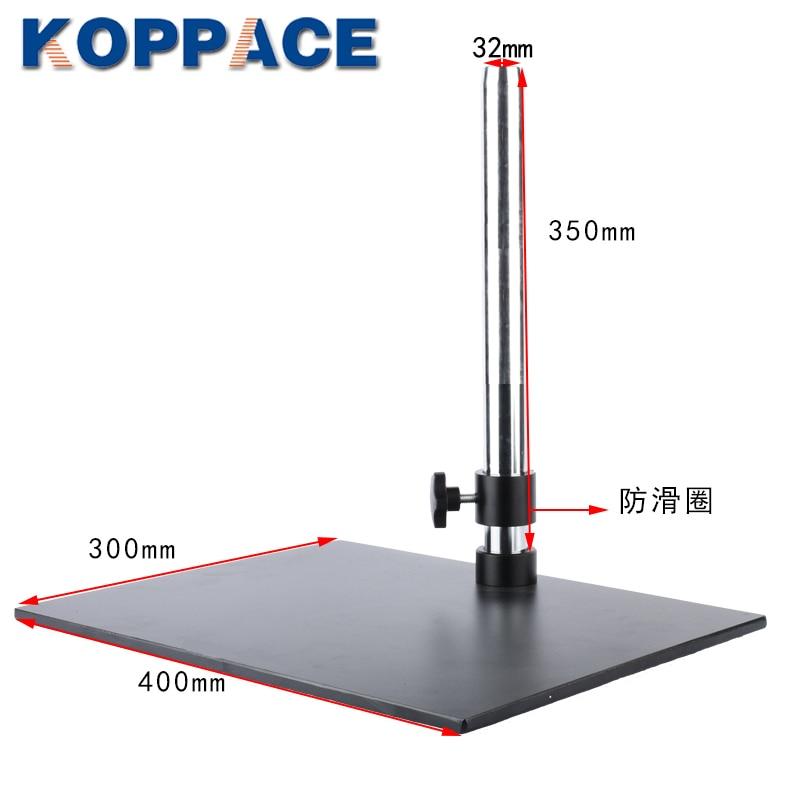 Koppace Stereo Microscoop Beugel Kolom Lengte 350Mm Base Maat 400*300Mm Kolom 32Mm In Diameter
