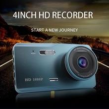 Dash Cam double lentille Full HD 1080P 4 pouces IPS voiture DVR avant + arrière Vision nocturne enregistreur vidéo g-sensor Mode de stationnement WDR