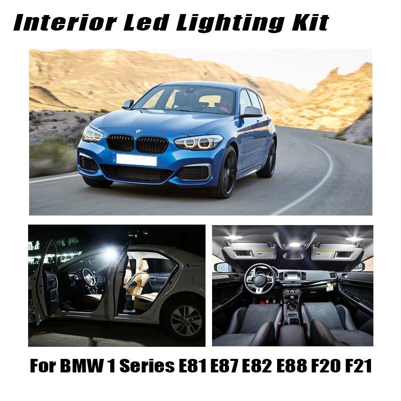 Blanc Canbus sans erreur voiture LED carte intérieure dôme tronc ampoules Kit pour BMW 1 série E81 E87 E82 E88 F20 F21 2003-2019