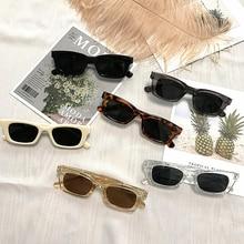 2021 Women Small Rectangle Vintage Sunglasses Brand Designer Retro Points Glasses Lady Square Eyegla