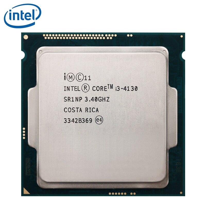 PC الكمبيوتر إنتل كور المعالج I3 4130 3.4GHz I3-4130 وحدة المعالجة المركزية LGA 1150 22nm ثنائي النواة 54W 100% العمل بشكل صحيح سطح المكتب المعالج