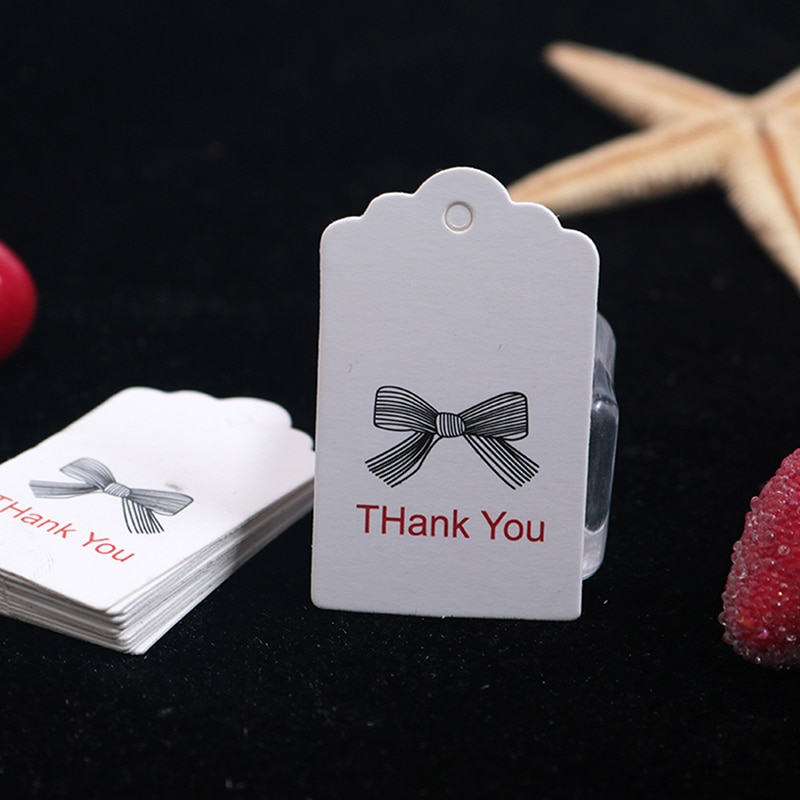 100 pçs/set kraft papel laço tag novo vintage feito amor arco-nó cartões etiqueta pendurar tags casa escritório festa suprimentos