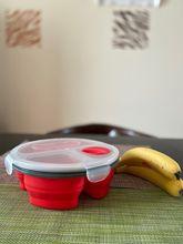 휴대용 스토리지 1000ML 실리콘 도시락 도시락 상자 도시락 상자 식품 점심 컨테이너 접을 수있는 식품 용기 학교 어린이 야외 활동