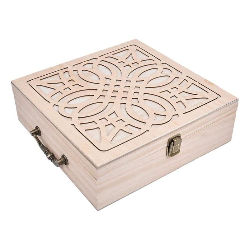 62 Grids Wooden Essential Oil Storage Case Essential Oil Bottle Organizer