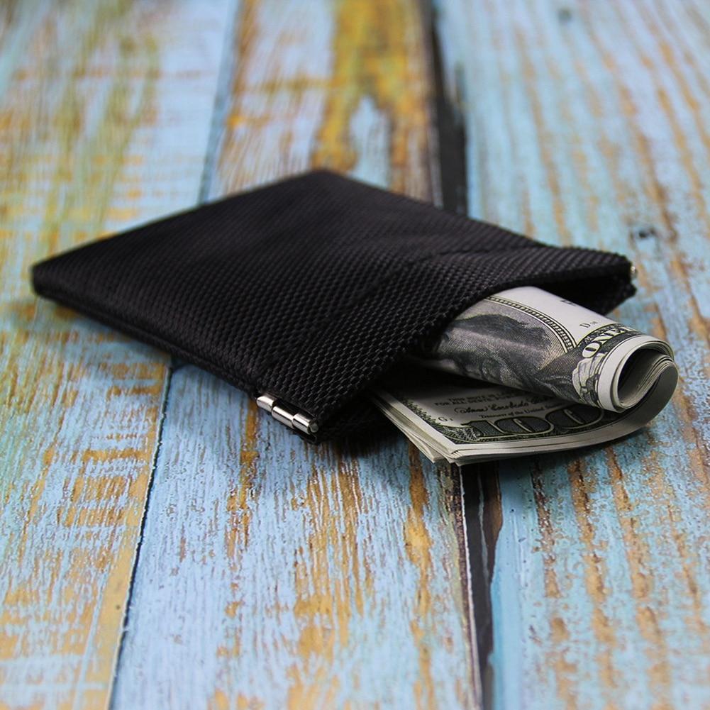 Маленький кошелек для мелочи, черная сумка-бумажник для ключей, визитницы, кредитницы, мелочи на молнии, для женщин, мужчин, детей, девочек