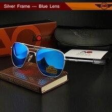 Aviation AO Sunglasses Men Brand Designer retro American Army Military Sun Glasses Glass Lens Woman