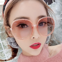 Round Mirror Sunglasses Women 2020 Pink Oversized Sunglasses Retro Vintage Big Sun Glasses Shades fo