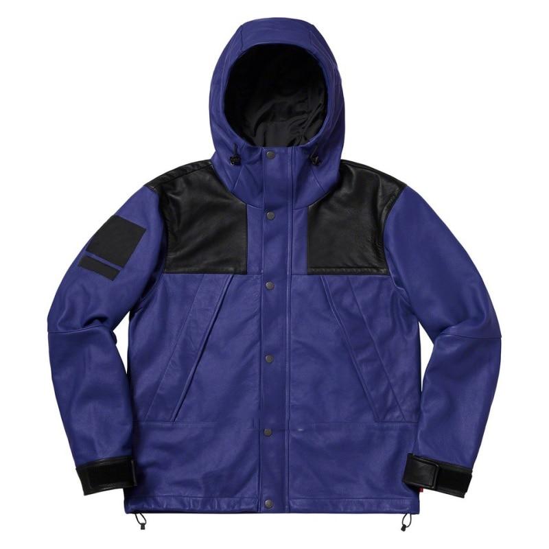 Spring Men's Leather Jacket Coat Casual Fashion Brand Men's Jacket Mountain Men Clothing Hip Hop Loose Waterproof Windbreaker