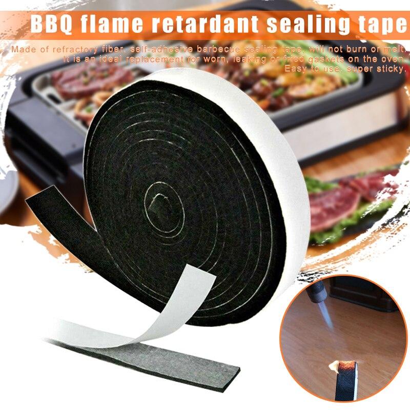 Junta ahumadora de barbacoa de alto calor junta de puerta de barbacoa sello adhesivo auto Stick 2cm x 3,6 m cocina -- M25