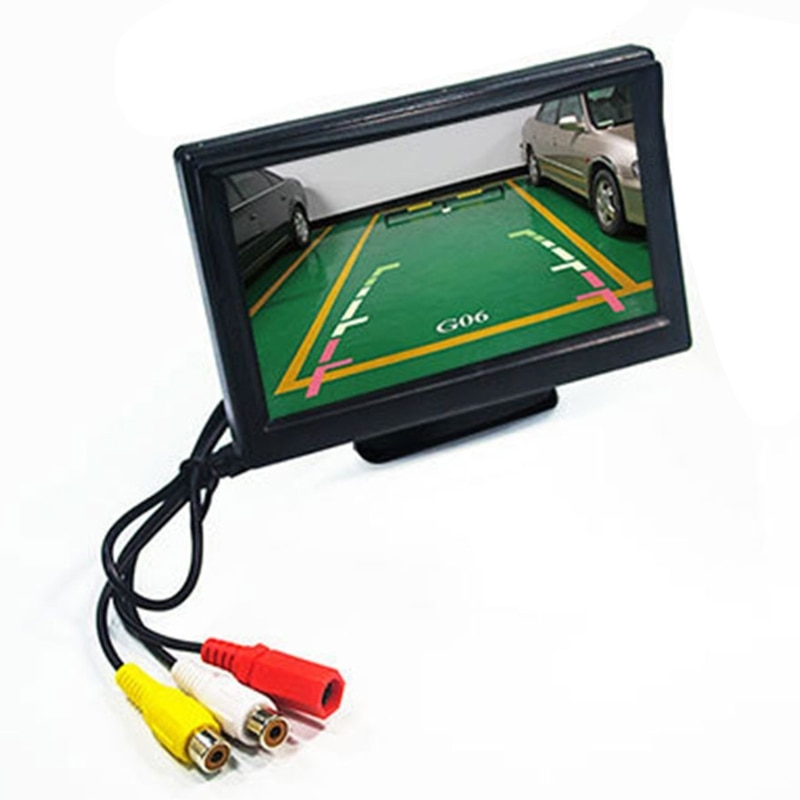 2021 New 5 inch Car Reversing Monitor LCD High Definition Digital Screen 2 Way Video Input Auto Parking Reverse Rearview Display