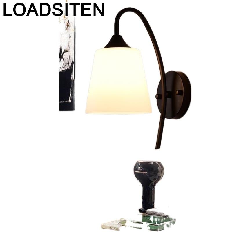 Candelabro Vintage De Pared para dormitorio, lámpara De Pared Interior, Aplique Led
