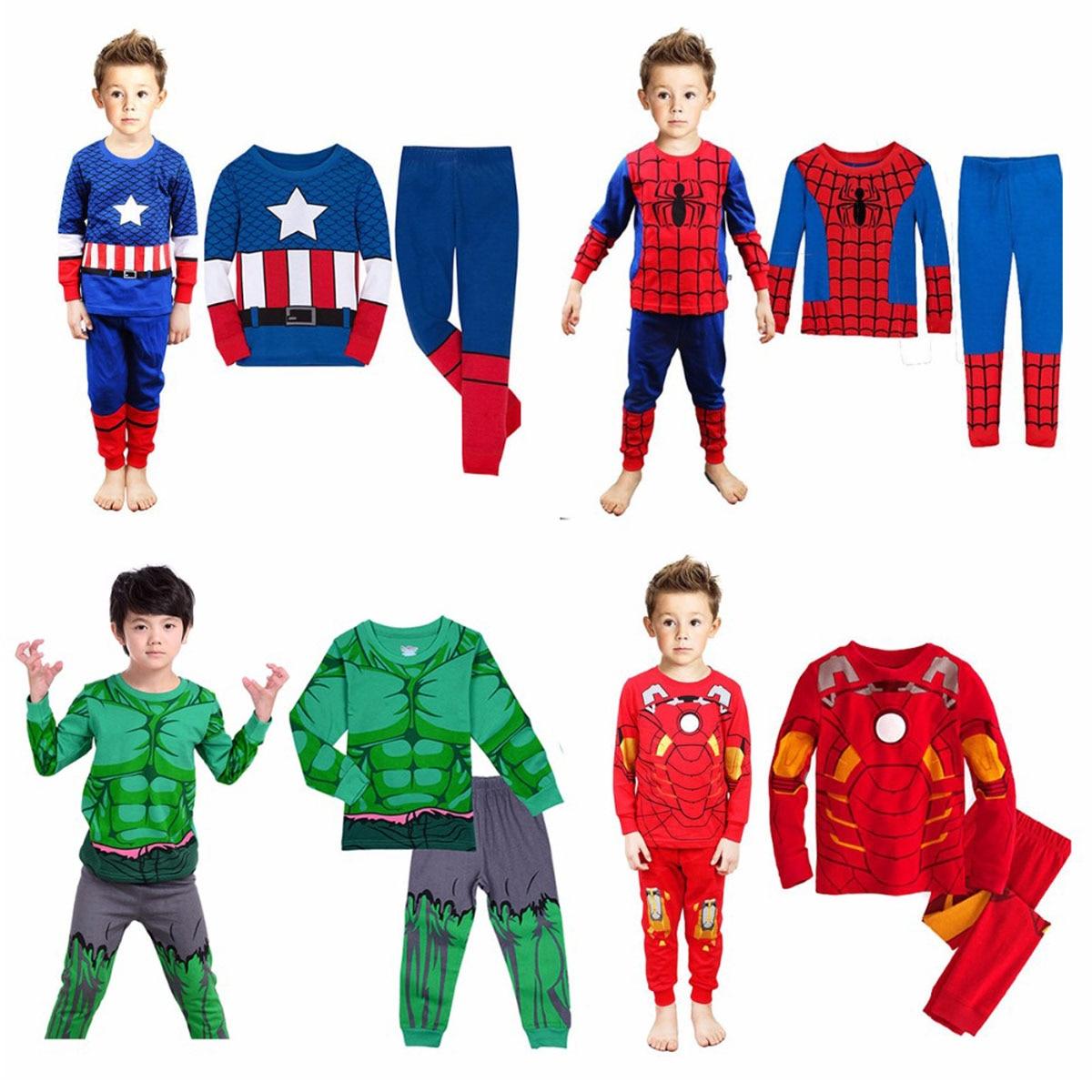8-12Y Pijamas Niño Spiderman Pijamas niños Hulk Ironman Woddy de superhéroe Pijamas infantil Pijamas para niños