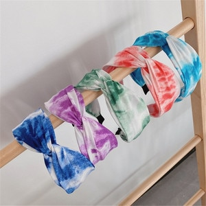 Colorful Embroidery Flower Hairbands For Women Korea Hair Accessories Knot Hair Band Crown Flower Headbands Head Wrap ms