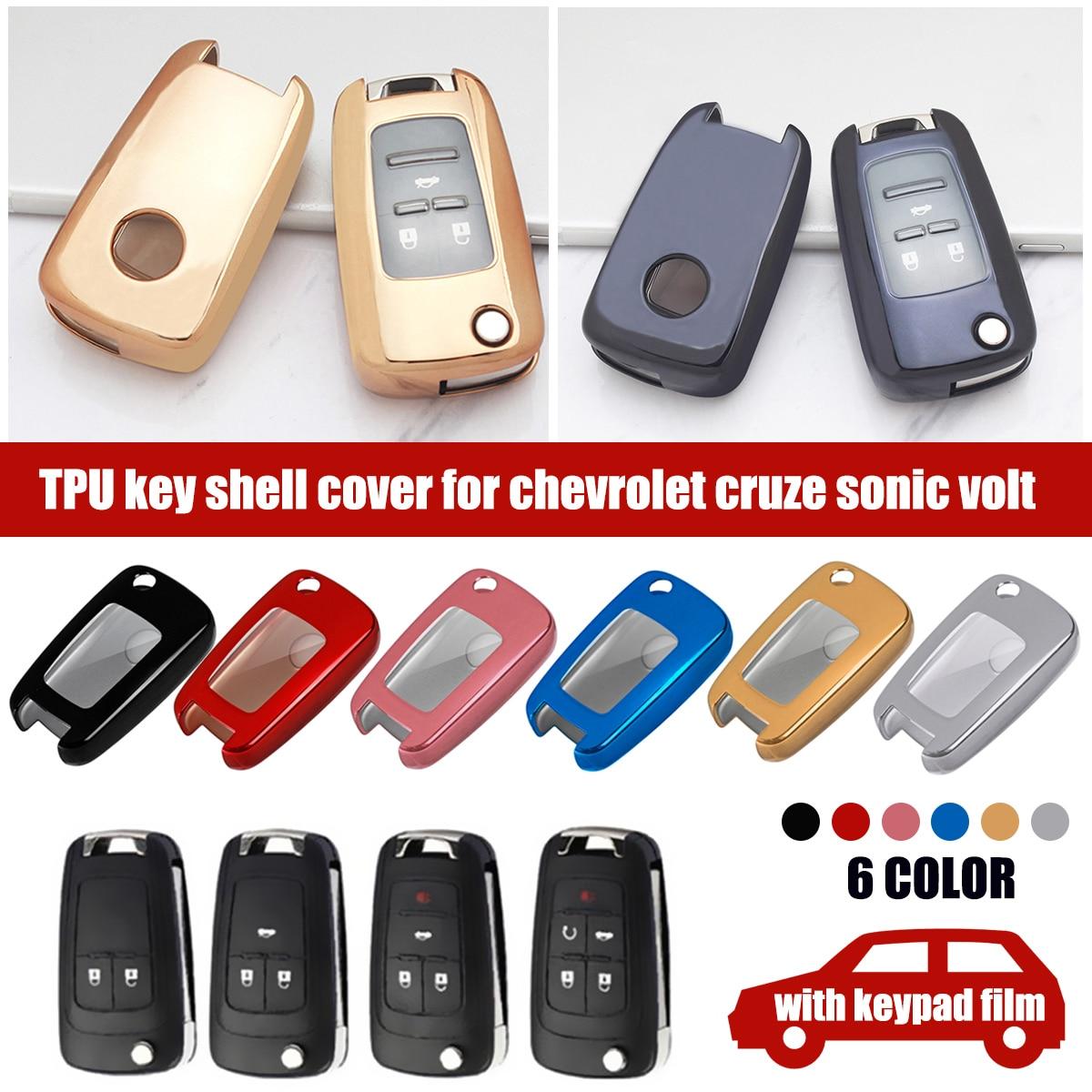 Met Cover TPU Key Holder Cover Case voor Chevrolet voor Cruze Aveo Trax Opel Astra Corsa Meriva Zafira Antara J mokka Insignia