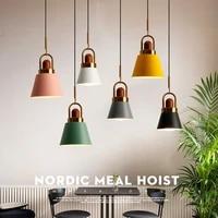 nordic e27 led pendant light modern simplicity iron chandelier indoor home kitchen bedroom livingroom restaurant hanging lamp