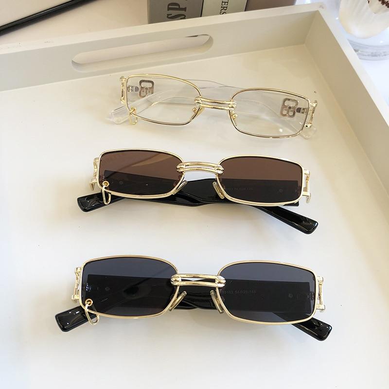 Retro European and American women's Sunglasses Korean fashion sunglasses cool male stars same style personality box metal high