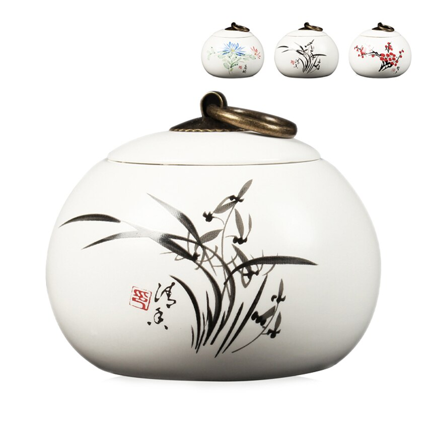 china Tea Caddy Tea Sugar Coffee Beans Jars Ceramic Tea Canister Kitchen Storage Bottle & Jars Sugar Bowl Storage Tank Spice Jar