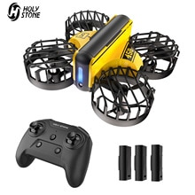 HS450 Mini RC Drone Headless Drones  Quadrocopter Drone One Key Land Auto Hovering  3 Batteries  Hel
