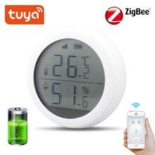 Tuya Zigbee-capteur de température et dhumidité   Avec écran LCD, avec batterie, domotique, scène, capteur dalarme de sécurité