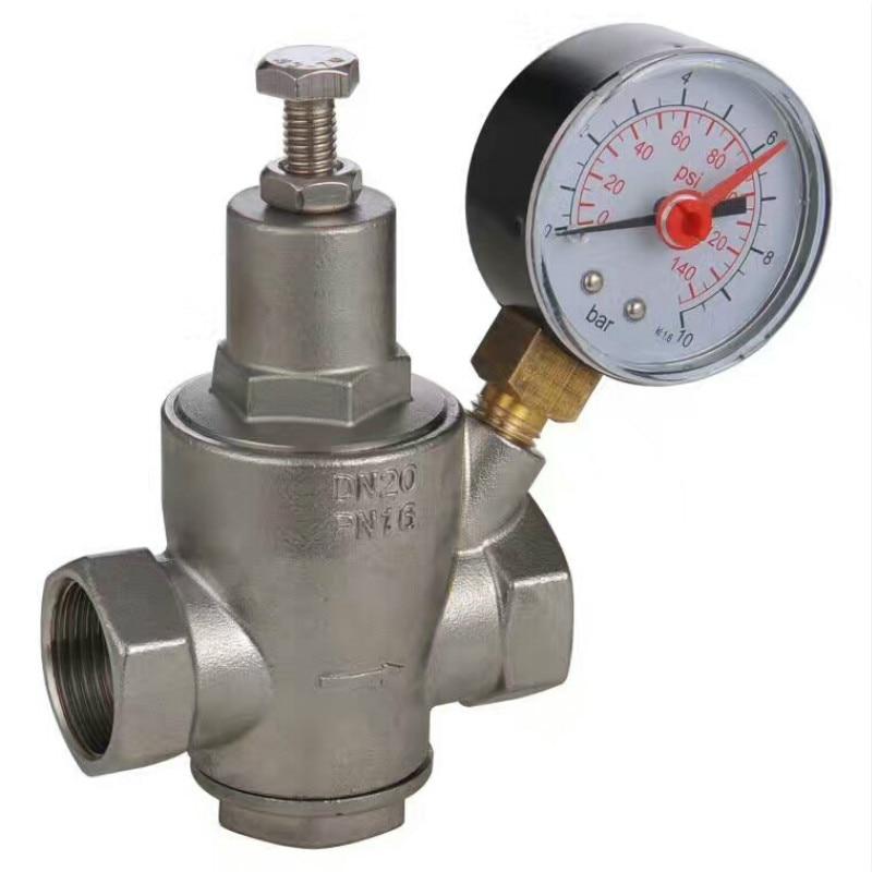 Aço inoxidável válvula de redução de pressão de água rosca fêmea aquecedor de água válvula de regulação de pressão DN15-DN50