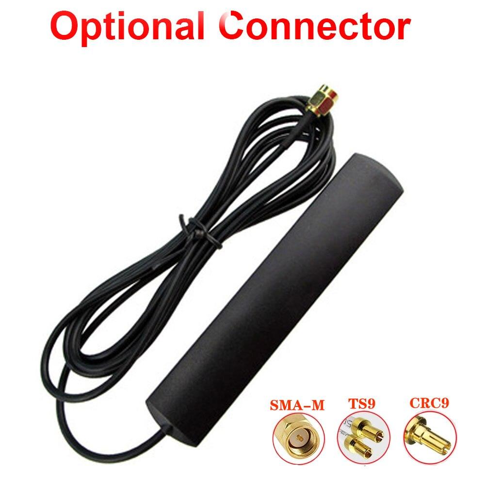Antena masculina 700-2700 mhz 5dbi ts9 crc9 sma do cabo de extensão do roteador do conector da antena 3g 4g lte de universale wifi