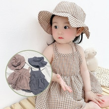 Yg Brand Children's Wear, Summer New Sleeveless Girl's Dress, Lattice Baby Out Suspender Skirt Give