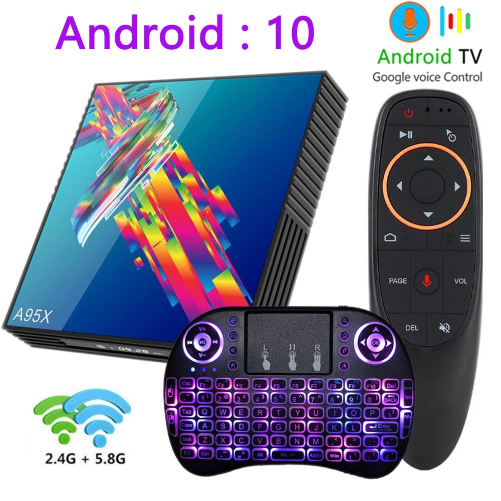 A95X R3 Smart android 10 tv box 4g 32g 64g 2,4g & 5g WIFI 4k media player netflix youtube mini tv box android 10.0