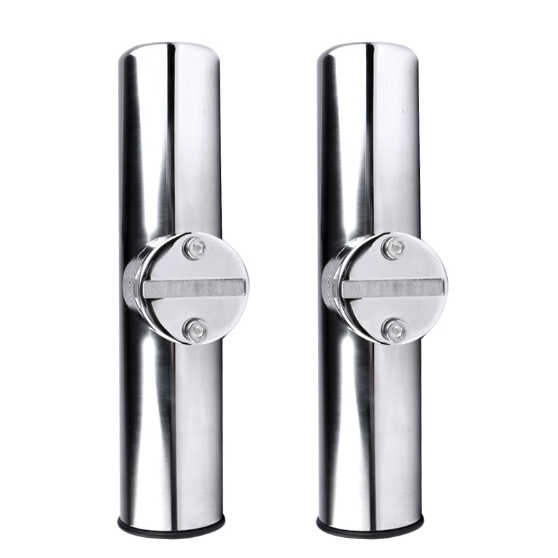 304 stainless steel fishing rod holder tube rocket launcher boat outfitting rod holders boat marine superb 2PCS Boat Accessories marine stainless Boat Stainless Steel Clamp On Fishing Rod Holder Rails 7/8'' to 1'' Tube yacht accessorie