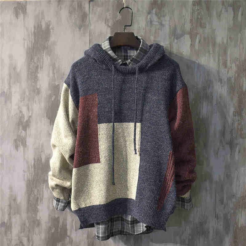 New Popular Autumn and Winter Japanese Trendy Knitwear Sweater Men's Loose and Lazy Style Korean Style Sweater Spring and Autumn