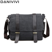 Canvas Men Messenger Shoulder Bag Casual Man Travel Crossbody Bag Leisure Men's Handbag College Stud