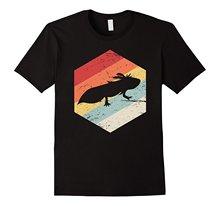 Retro Axolotl T-Shirt Print Casual T-Shirt Men Brand Top Tee Short Sleeves Cotton Free Shipping T Shirt Men Print