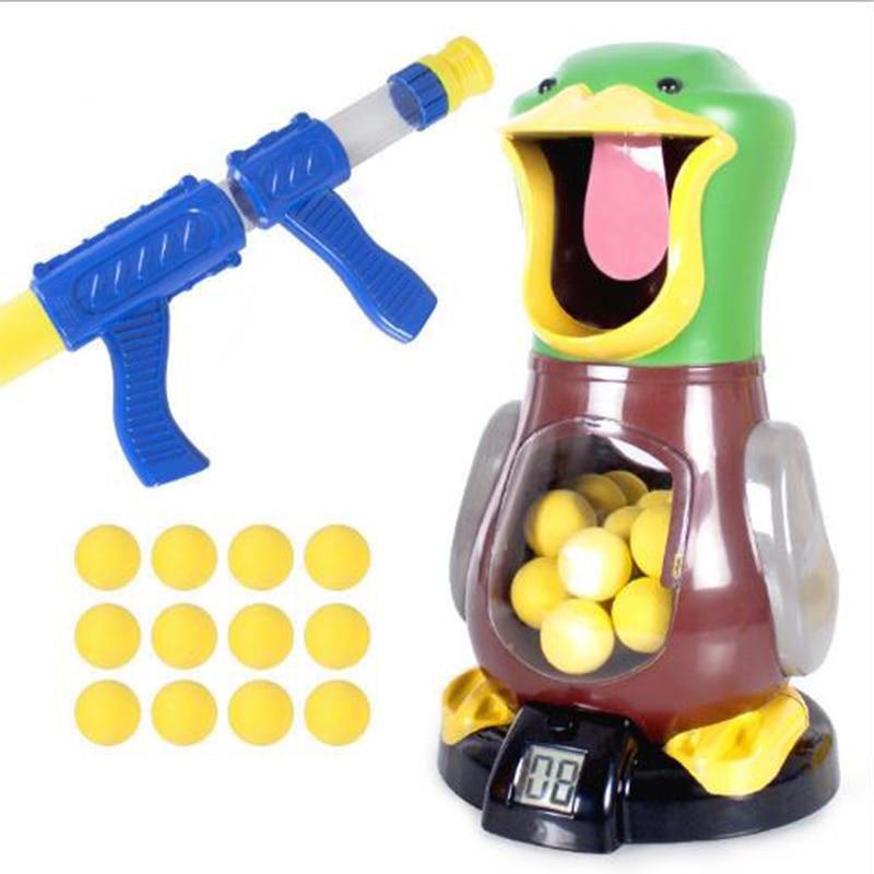 Pato niños disparar Juguetes Shooter Pelota de espuma juguete de batalla potencia de aire pistola Popper padre-niño interactivo disparar juguete