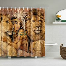 Dafield Lion rideau de douche en tissu Polyester   Rideau de douche en tissu Sexy pour femmes africaines, pour femmes africaines et Lions