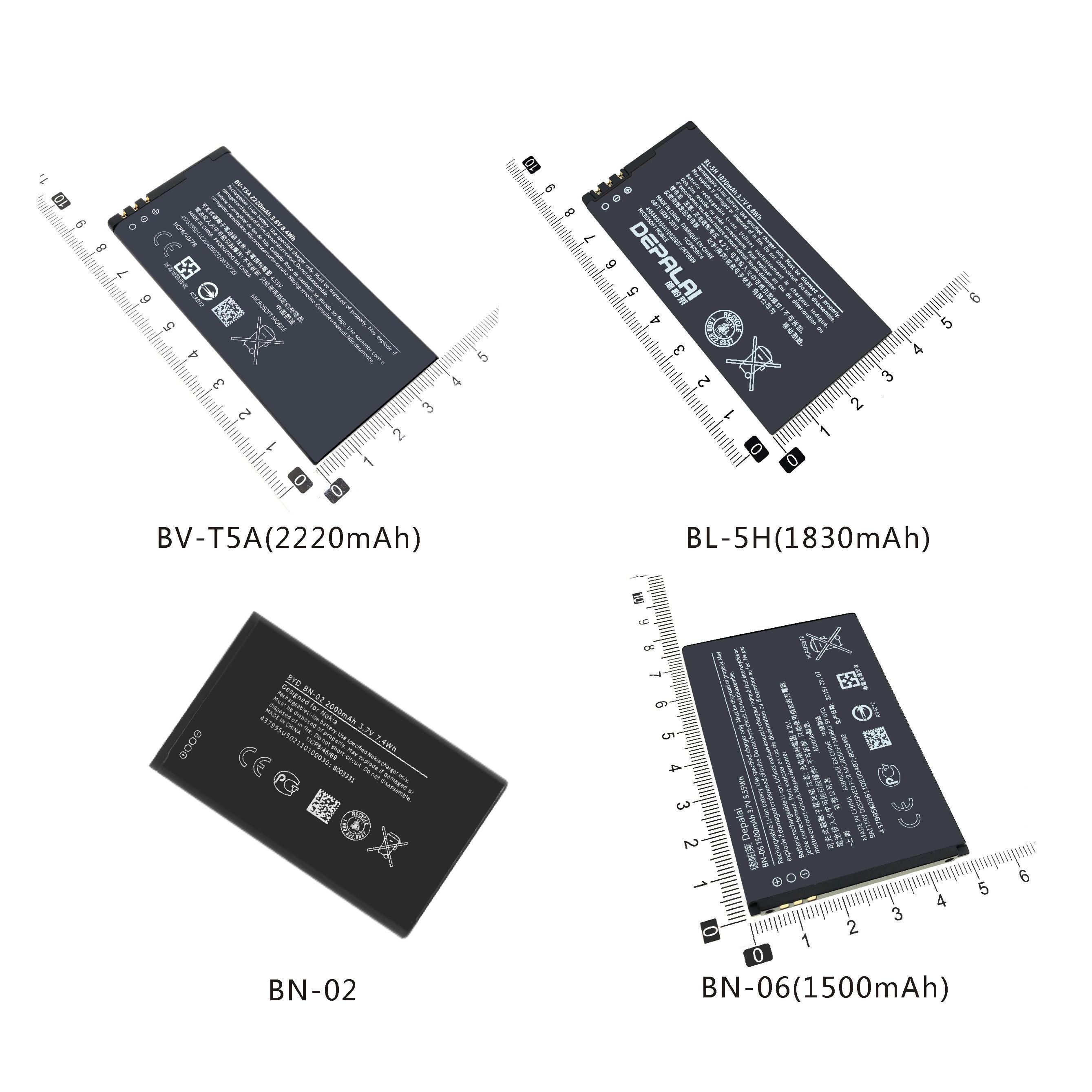 La batería del teléfono BN-02 BN-06 BV-T5A BL-5H para Nokia XL 4G...