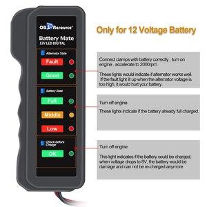 Image 4 - Цифровой анализатор напряжения BM310, тестер для аккумуляторов 12 В, светодиодный индикатор для мотоциклов, проверка напряжения автомобильного генератора переменного тока