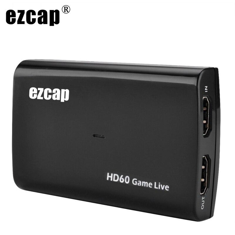 1080P 60fps HDMI فيديو بطاقة التقاط الصوت والفيديو USB 3.0 Mic الصوت لعبة مسجل ل PS4 Xbox Vmix OBS يوتيوب بث مباشر لوحة 4K حلقة