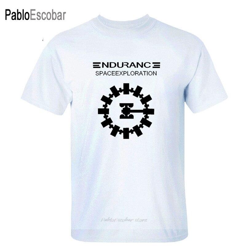 Pelicula de aventura Interstellar Endurance Space Craft Cristóbal gradual nuevas camisetas de algodón para hombres camisetas personalizadas