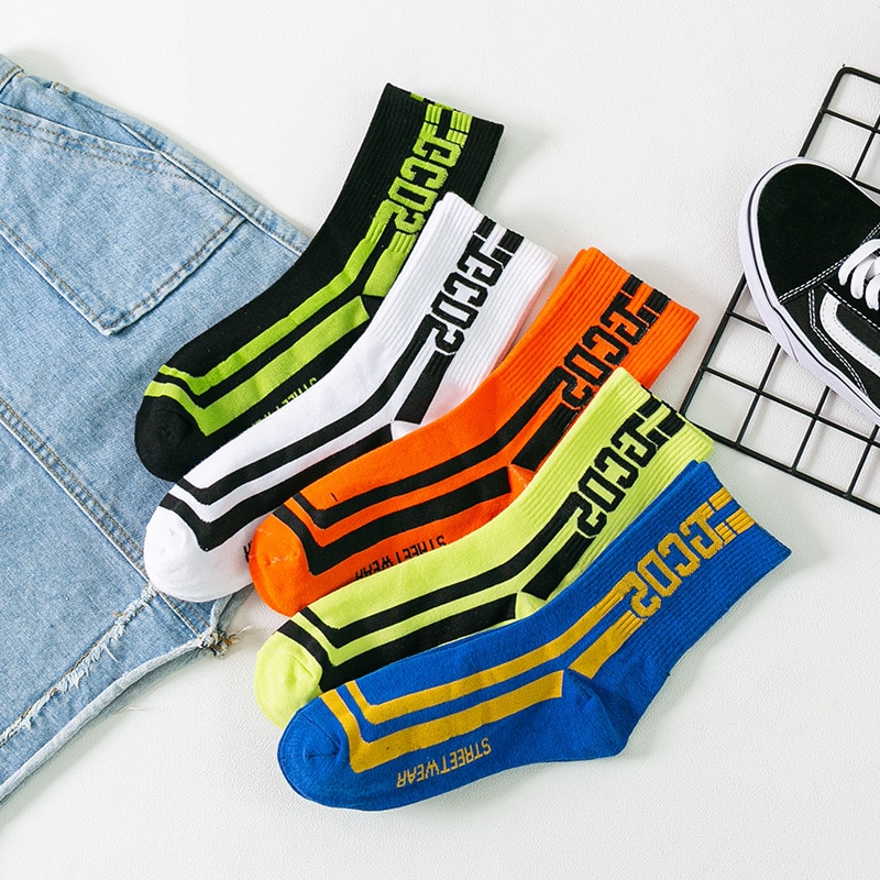 Hip hop skate streetwear mujeres calcetines de algodón calcetines skarpetki meias meia calcetas chaussette calcetín sokken medias skarpet