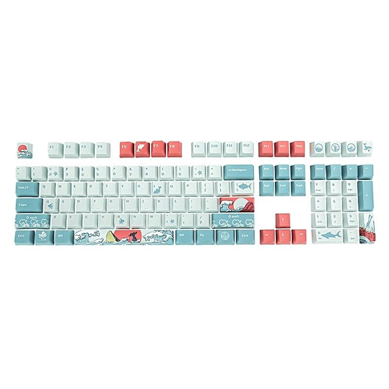 لوحة مفاتيح بتأثير الصبغ ، طباعة متقاطعة ، PBT ، بتكنولوجيا الهيكل X ، 108