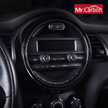 Cercle de décoration de Navigation de contrôle Central pour MINI ONE COOPERS F55 F56 F57 tableau de bord autocollants intérieurs pièces de Modification de voiture