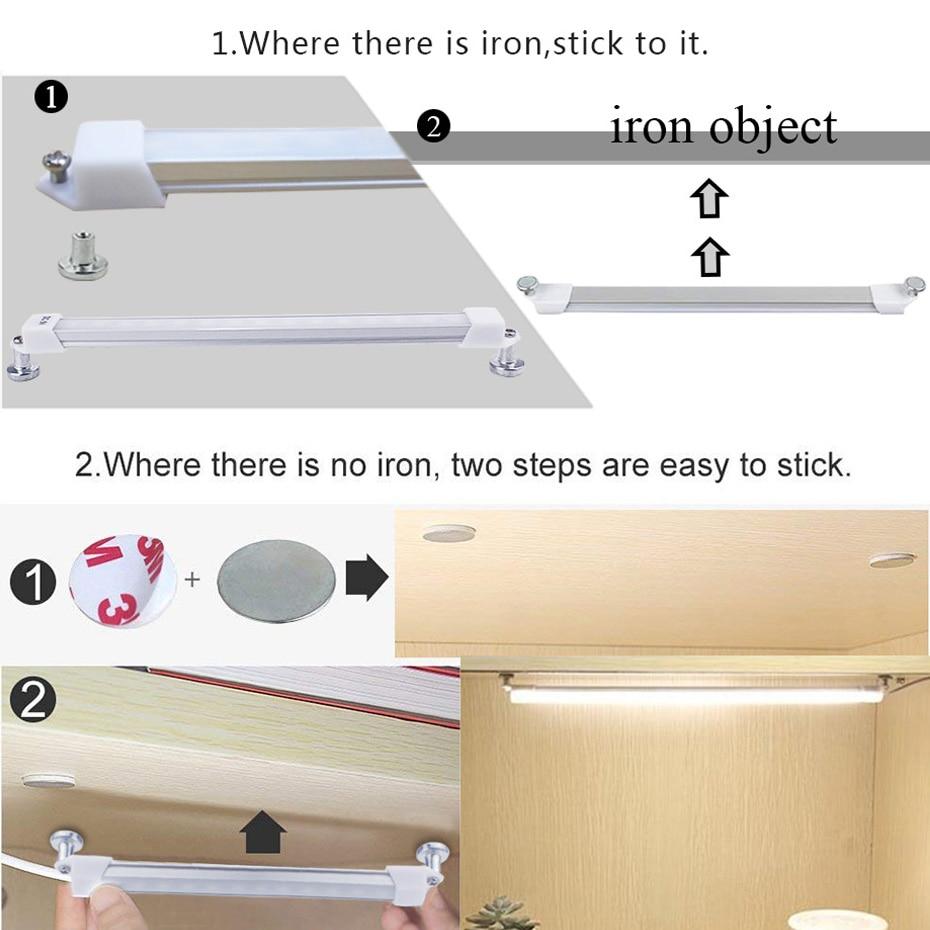 USB LED Bar Light DC5V 2835 Bar Led 18cm 35cm Mini LED Night Lights For Cabinet Closet Study Reading Lamp Desk Lamps With Switch