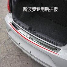 Panneau de rebord de fenêtre arrière en acier   Outil en acier inoxydable de haute qualité, seuil de protection du pare-choc arrière, pour Volkswagen polo 2011-2018 style de voiture