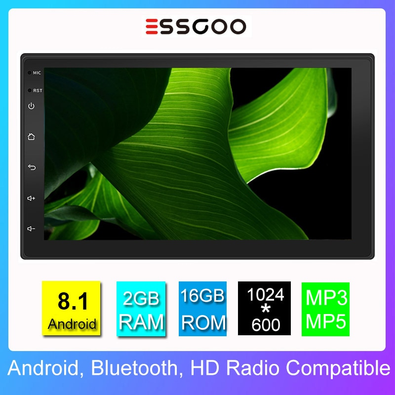 Essgoo Car Radio 2 Din Android Stereo Universal Auto Audio RDS 7 inch Autoradio Multimidia Player Gps Navigation Touch Screen
