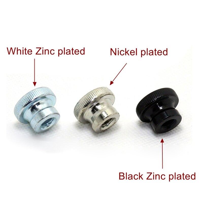 M3-M10 DIN466, tuerca moleteada de acero al carbono, tuerca para apretar a mano, piezas de impresoras 3D GB806, zinc blanco, Zinc negro, niquelado