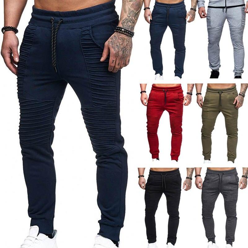 Herbst Winter Hosen Männer Streifen Design Beiläufige Dünne Jogger Männer Feste Volle Länge Jogginghose Männer Hip Hop Streetwear Männer Hosen
