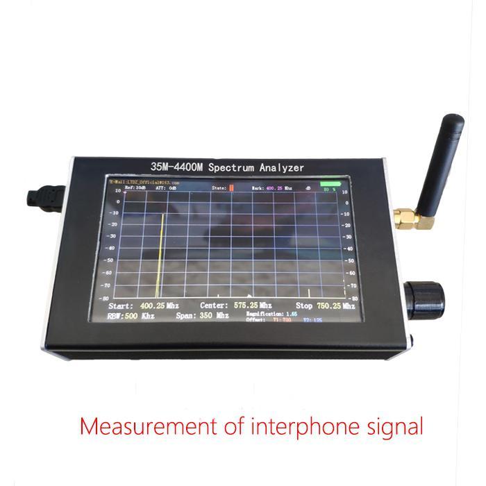 MeterMall Spectrum Analyzer Handheld 35M-4400M Simple Measurement of Interphone Signal