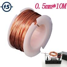 Bobine magnétique enroulement 10m aimant fil 0.5mm fil de cuivre émaillé pour la fabrication de modèle de moteur électro-aimant