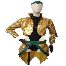 2019 personnalisé JoJo Bizarre aventure film Dio Brando Cosplay Costume or jaune Version féminine